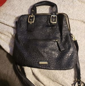 Steve Madden black leather tote
